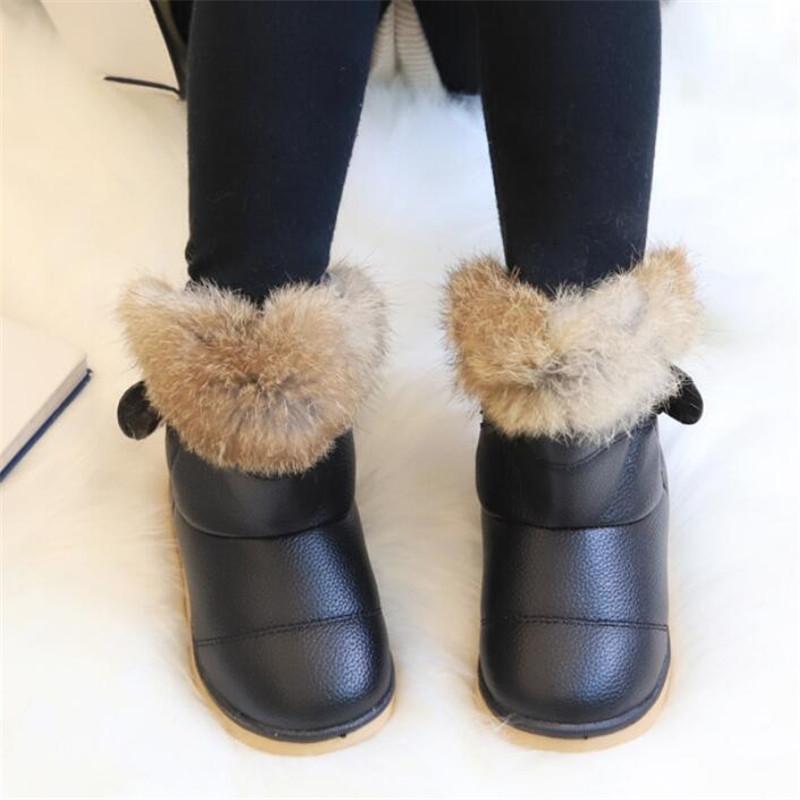 Nouvelle Arrivée Enfants d'hiver pour filles en peluche Garder la chaude Toddler Bébé Bottes en coton pour enfants en plein air Y200104