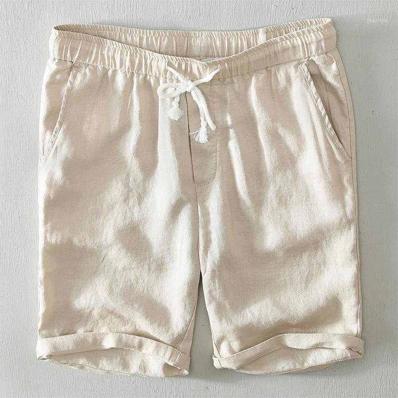 2020 Summer New Linen Mens Shorts Multi Colors String Waistband Bermuda Masculina1