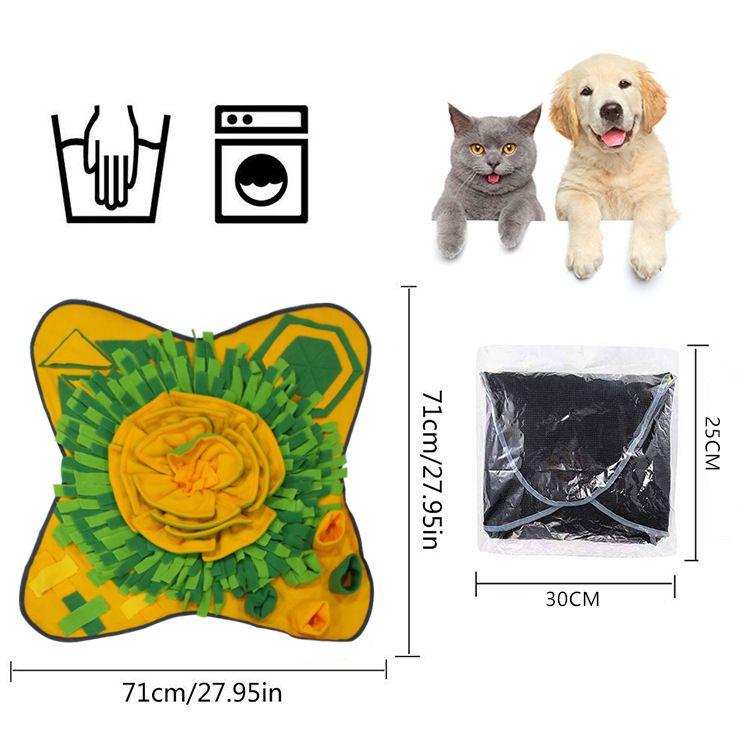 Hot Pet Rurnfufe Alimentación Mat Dog Puzzle Toy Interactive Game Training Manta fomenta las habilidades de forrajeo natural