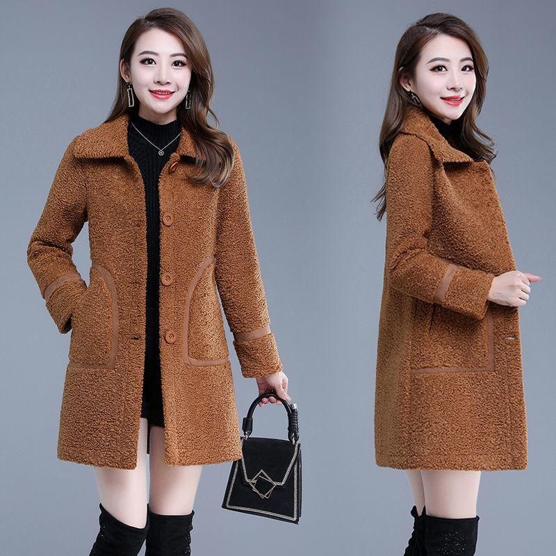 Женский меховой FUX 2021 FLECE CATH COATH COOTSHRTS CARDIGAN Осенние зимние женщины пальто плюшевые куртки женские хижекет Муджеру Femme Veste