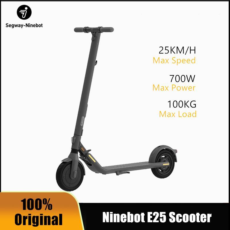 PRESALE 2020 NOUVEAU ORIGINAL NineBot N ° 9 Scooter électrique E25 Portable adulte Smart Scooter Electric Scooter Lithium Battery Kickcooter