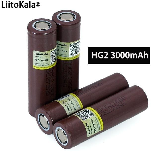 atteries Rechargeable Batteries 100% New Original 2 18650 3000mAh battery 18650HG2 3.6V discharge 20A dedicated For 2 Power Rechargeable ...
