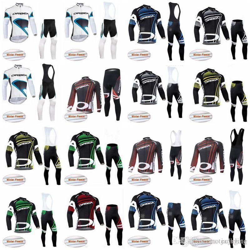 Orbea Ekibi Erkek Kış Termal Polar Bisiklet Jersey Önlüğü Pantolon Setleri Warmmer MTB Bisiklet Giyim Açık Spor Üniforma S21012844