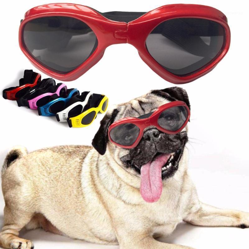 Lunettes de soleil chat pour chien de compagnie UV Protection des yeux Jaw Fix lunettes de lune Porter des lunettes de bousse élastique élégables élégantes