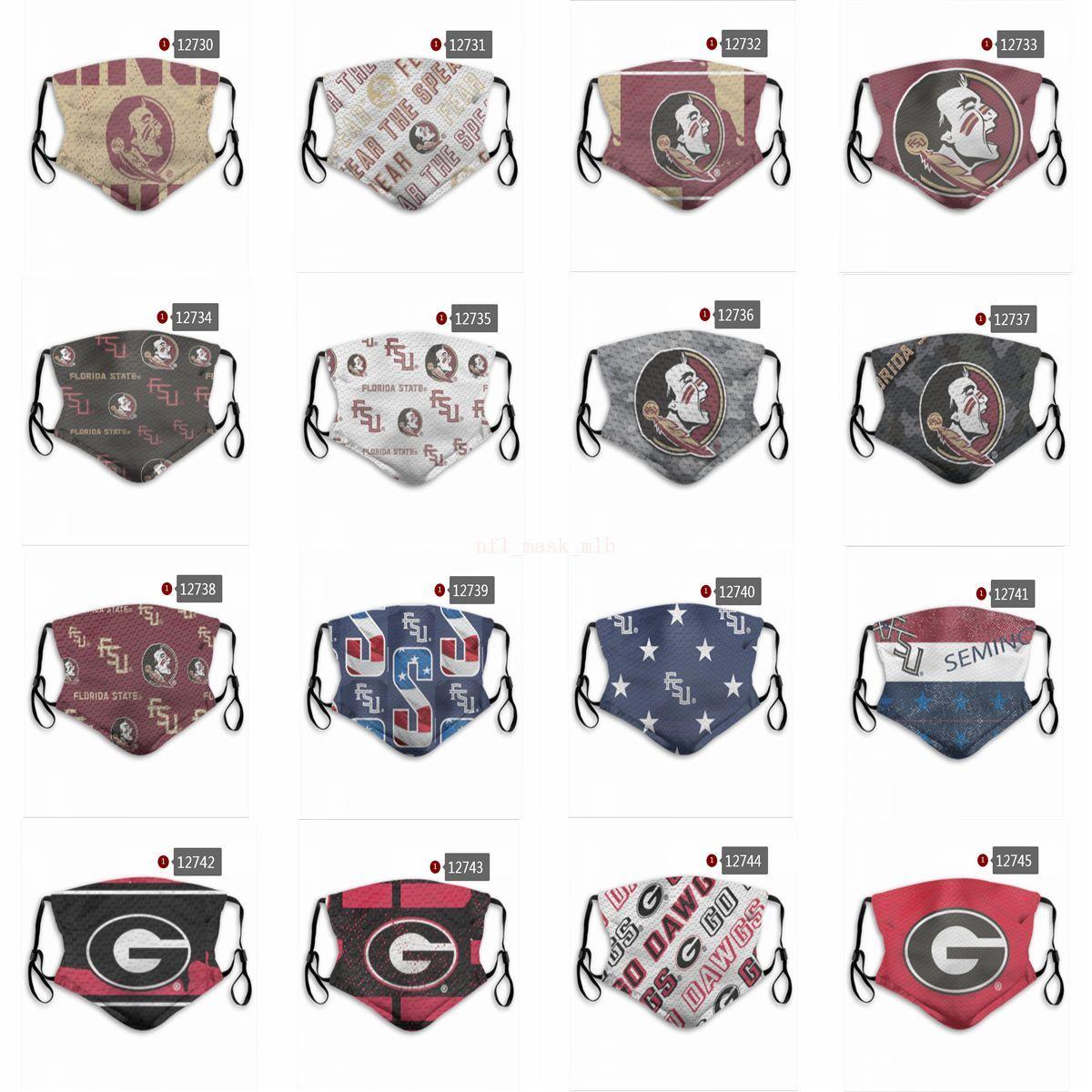 2020 HOT COLLEGE Vente Football Équipe Football Masque Designer Masque réutilisable Masques de mode Masques d'usine peut être des commandes mixtes