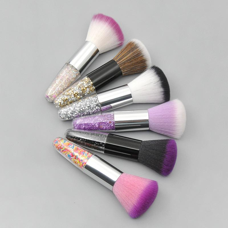 1 stück Professionelle Diamant Foundation Pinsel 6Color Make-up Pinsel flache Sahne Make-Up Pinsel Professionelle kosmetische Make-up