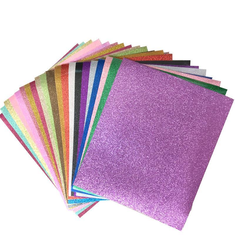 Vinilo de transferencia de calor de brillo para camiseta 12x10 pulgadas de hierro en telas de vinilo 20 Colores surtidos HTV Vinilo Estampado en caliente Papel DIY