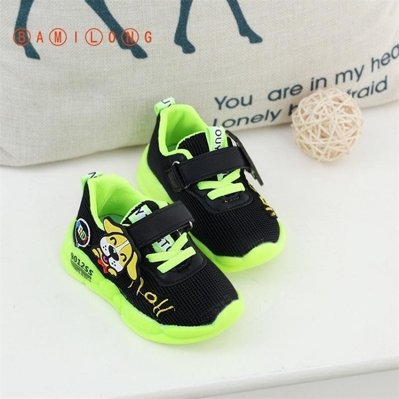 Bamilong Moda Rahat Çocuk Ayakkabı Yeni Bahar / Sonbahar Çocuk Nefes Örgü Ayakkabı Unisex Toddler Erkek Kız Sneakers Y192 201113