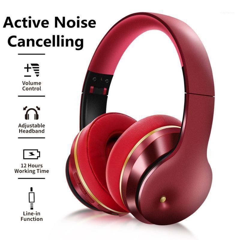 Истинные активные шумопользования ANC наушники Bluetooth 5.0 наушники беспроводной проводной игровой гарнитуры HIFI стерео звук с Mic1