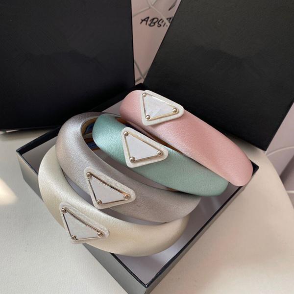 P fasce lettera seta e raso nero lusso fascia di alta qualità fascia donna stilista hairband di lusso
