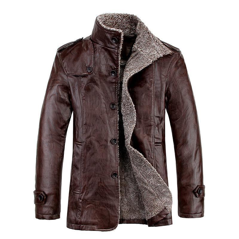 New 2020 Mens Leather Jackets Classic Motorcycle Bike Cowboy PU Jacket Male Velvet Casual Coat Warm Brand Clothing Plus Size 8XL