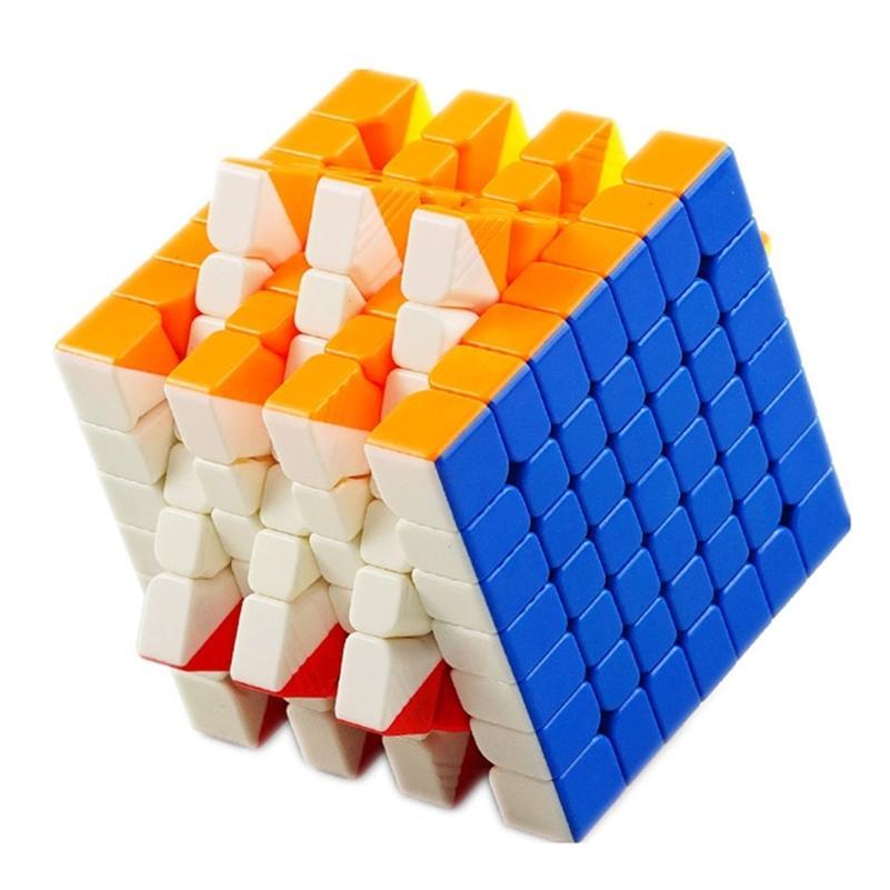 YONGJUN YUFU V2M 7x7x7 Магнитный волшебный кубик Natucterless профессиональная скорость головоломки YJ 7X7 образовательный игрушечный подарок 201219