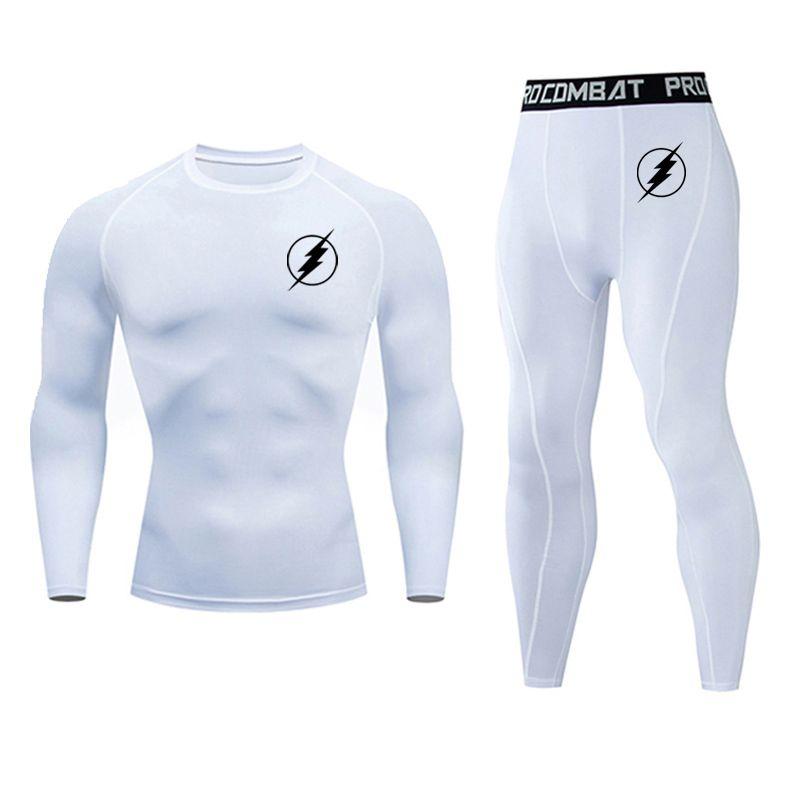 Nuevo The Flash Sportswear Man Compression Sport Trajes de deporte Trajes Sports Joggers Training Fitness Gym Ropa Correr Set Hombres