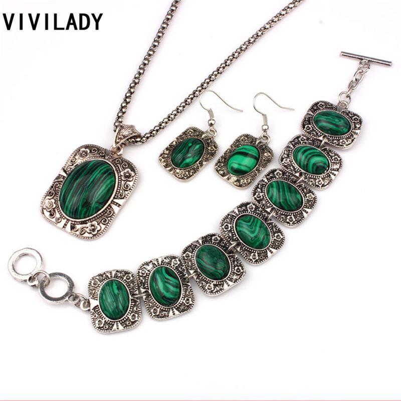 Green Stone Jewelry Malachite Jewelry Set Malachite Jewelry Malachite Earrings Green Stone Jewelry Set for Woman Malachite Necklace
