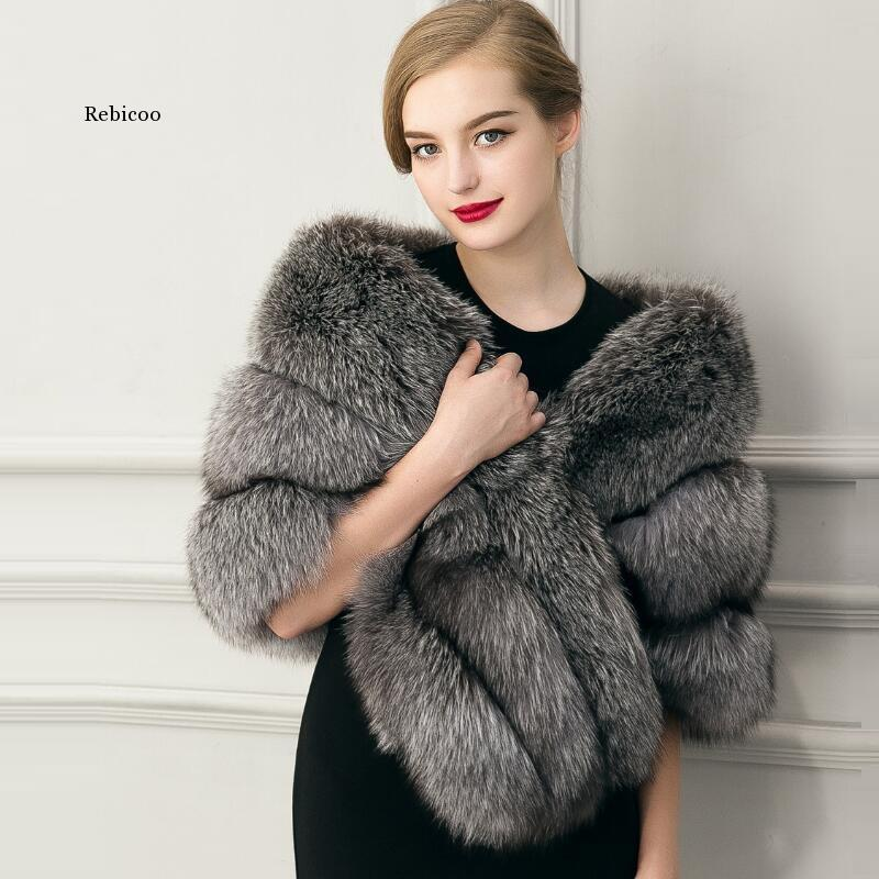 Fake Fur coat Female Fur vest Women's outerwear Coat Collar Outerwear Lady Winter Sleeveless Vest