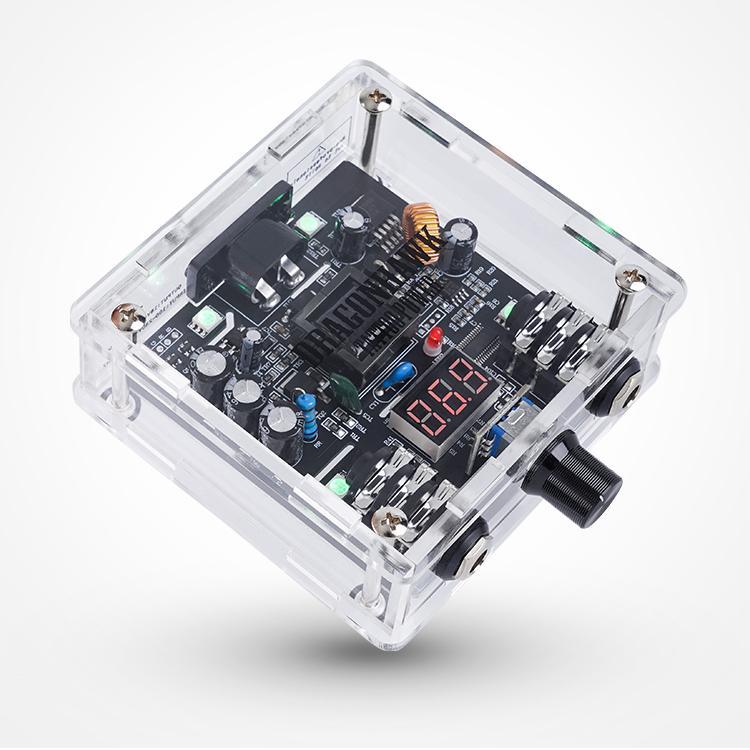 DragonHawk Tattoo Fornitura Portable Power Switch Telaio trasparente Adattatore di alimentazione Dual Modalità di lavoro Schermo LCD AMP P114