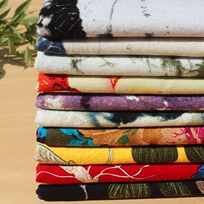 Хлопок и белье, женская печать цветов, льняная ткань, женский цветок напечатанный хлопок, весенняя одежда, швейная организация, 1 метр длиной