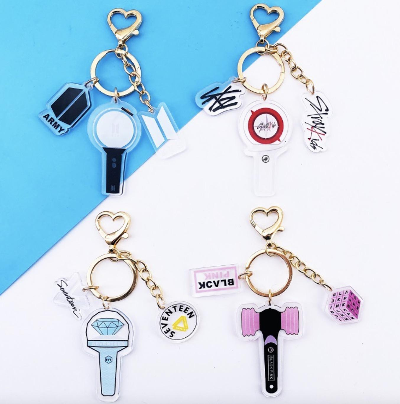 8pcs/lot free shipping bts/blackpink/straykids/seventeen keychain/pendent for free shipping