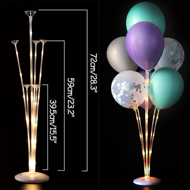 Led Light Air Balls Stand Holder Column Kids Birthday Party Balloon Stick Wedding Table Decor Baloon Helium Globos Adult Ballon HHD4786