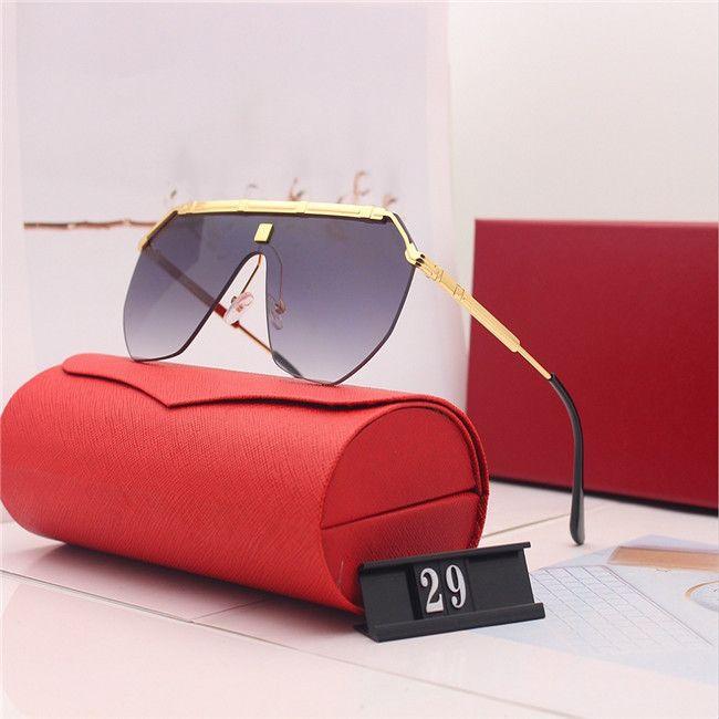 2020 جديد الفاخرة أعلى جودة الكلاسيكية الطيار نظارات مصمم ماركة أزياء رجالي إمرأة نظارات الشمس نظارات عدسات زجاج معدنية مع صندوق 29