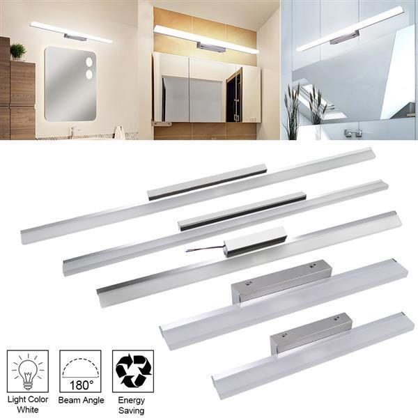 16 W 120 cm yeni ve akıllı lamba banyo ışıkları bar gümüş beyaz ışık yüksek parlaklık ışıkları üst sınıf malzeme aydınlatma toptan