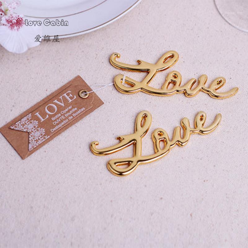 Party Favori Apribottiglie Apriscatole Amore Forma Alloy Tool Regalo di nozze Souvenirs Sliver / Gold 10 PZ1