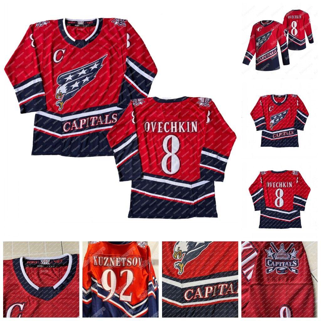 워싱턴 수도 2021 Reverse Retro Jersey Alex Ovechkin Zdeno Chara John Carlson T.J. 오시리 윌슨 니클라스 백스트롬 Lundqvist Kuznetsov.