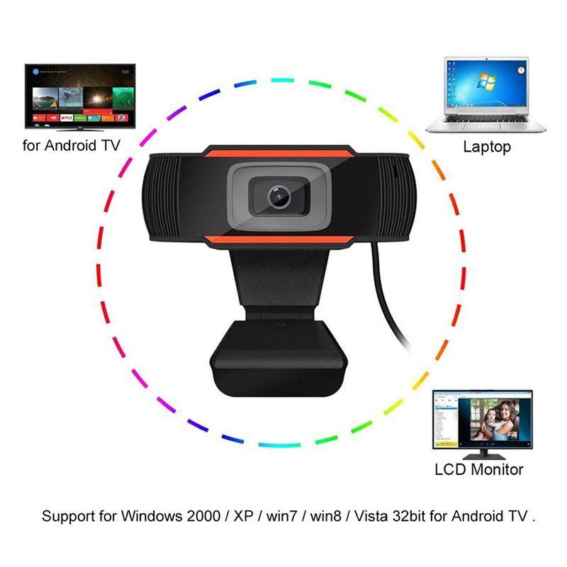 Hot 480p / 1080p HD камера веб-камеры USB 2.0 с микрофоном видеозапись 12,0 м пикселей для компьютерного компьютера ноутбук широкоэкранное видео