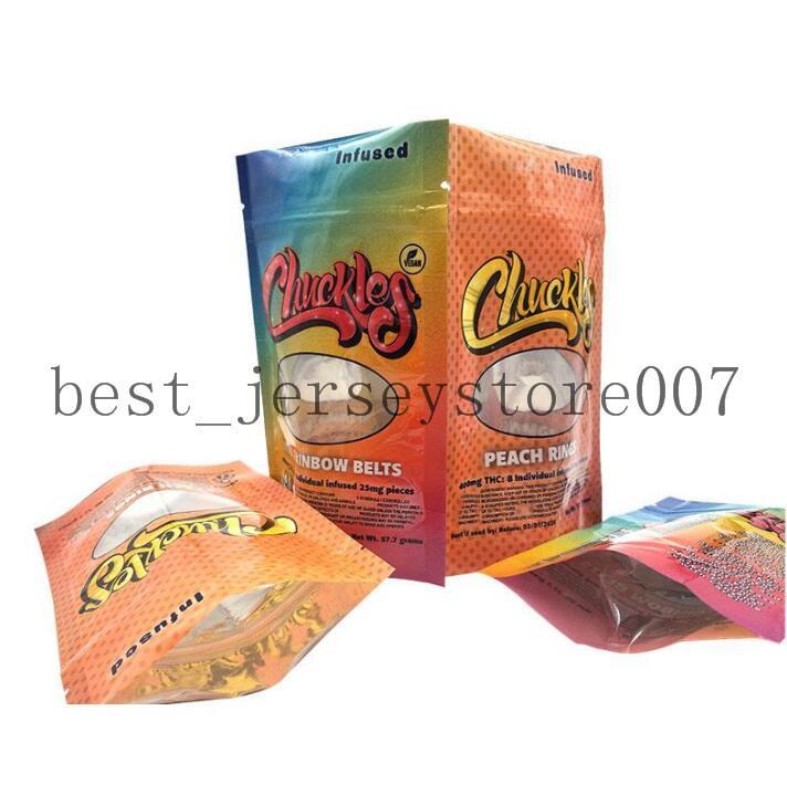 D2021G 420 Scherzi a prova di odore infuso infuso 50 mg anelli di pesca Nerds Corda Gummies Esotico 710 EDIbles Package Bag