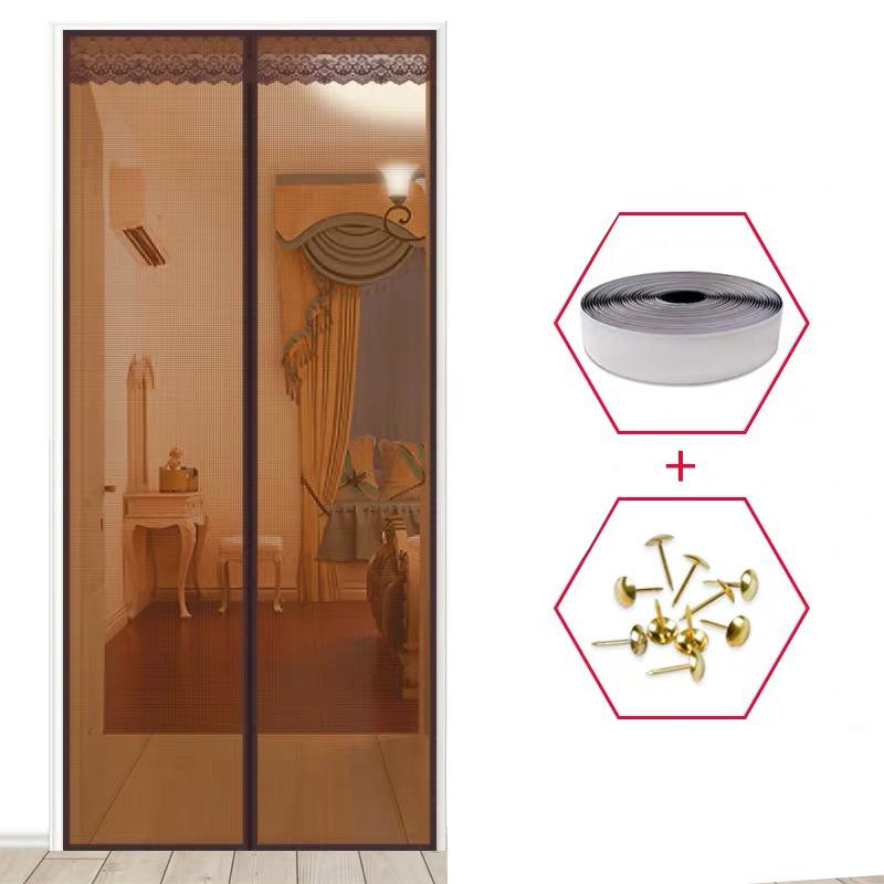 1 unid de alta calidad Malla magnética Puerta de pantalla Mosca Insecto Mosquitero Cortina Net Q1126