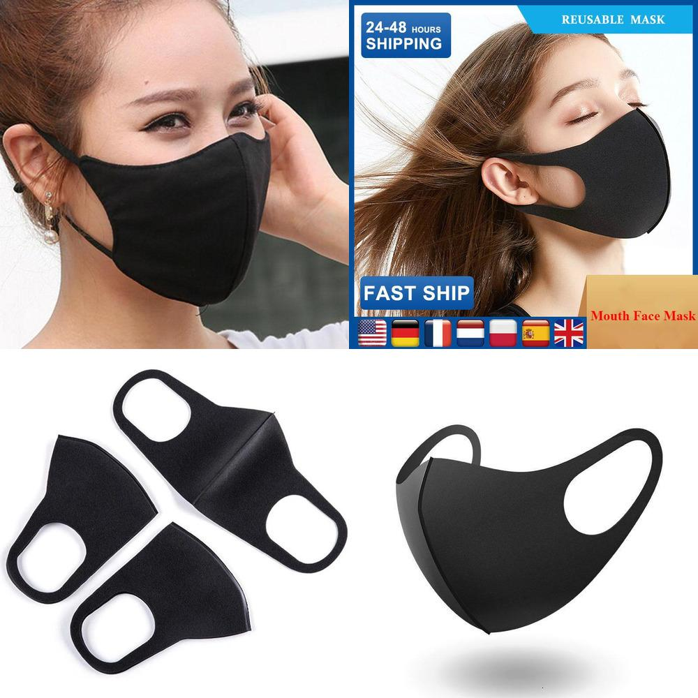 Mouth Cotton Women/Men Face Masks for Anti dust Cycling Wearing Black Fashion High Quality Mouth-muffleProtective0X0R