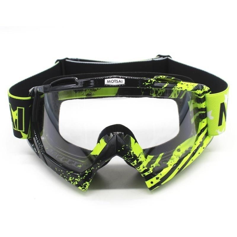 Adult Motorcycle Goggles Cycling MX Off-Road Ski Sport Atv Dirt Bike Bike Corsa Bicchieri per Fox Motocross Goggles Escursioni all'aperto Q0119