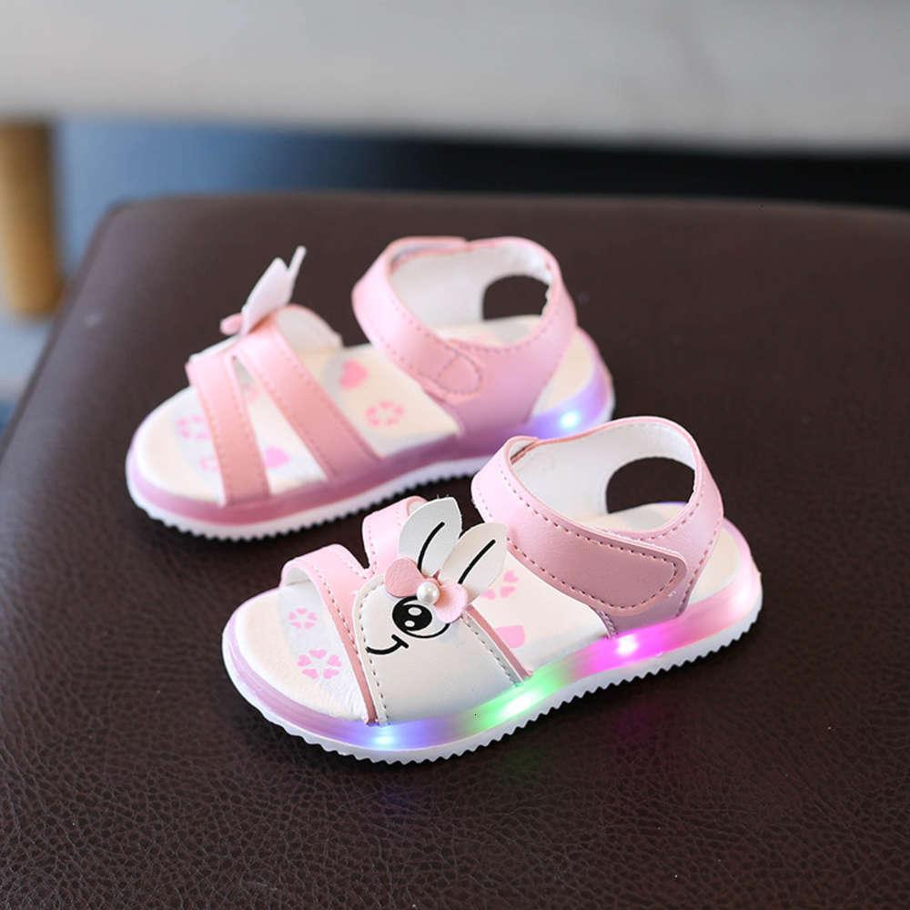 Open Summer Nouvelles filles 'Toe Sandals Fashion Princes Dessin animé pour enfants Bow bébé Soft Sold Light Sho