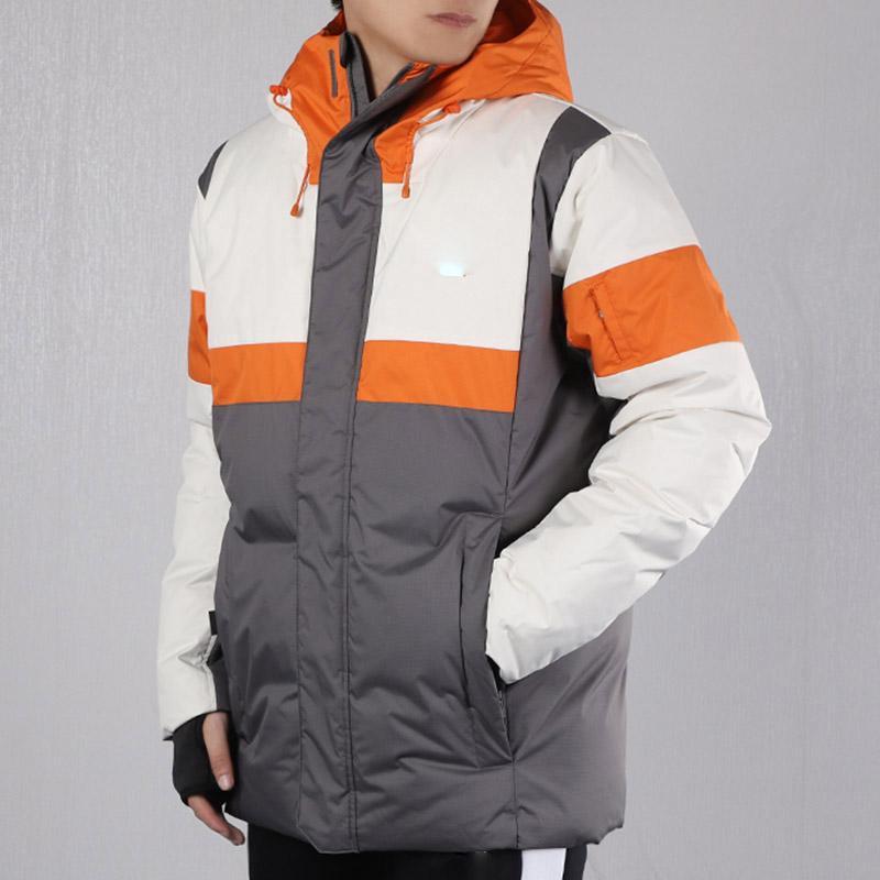 Männer Daunen dicke warme Winter Kontrastjacke mit Kapuze Verdicken Ente Daunen Parka Mantel casual Slim Mantel
