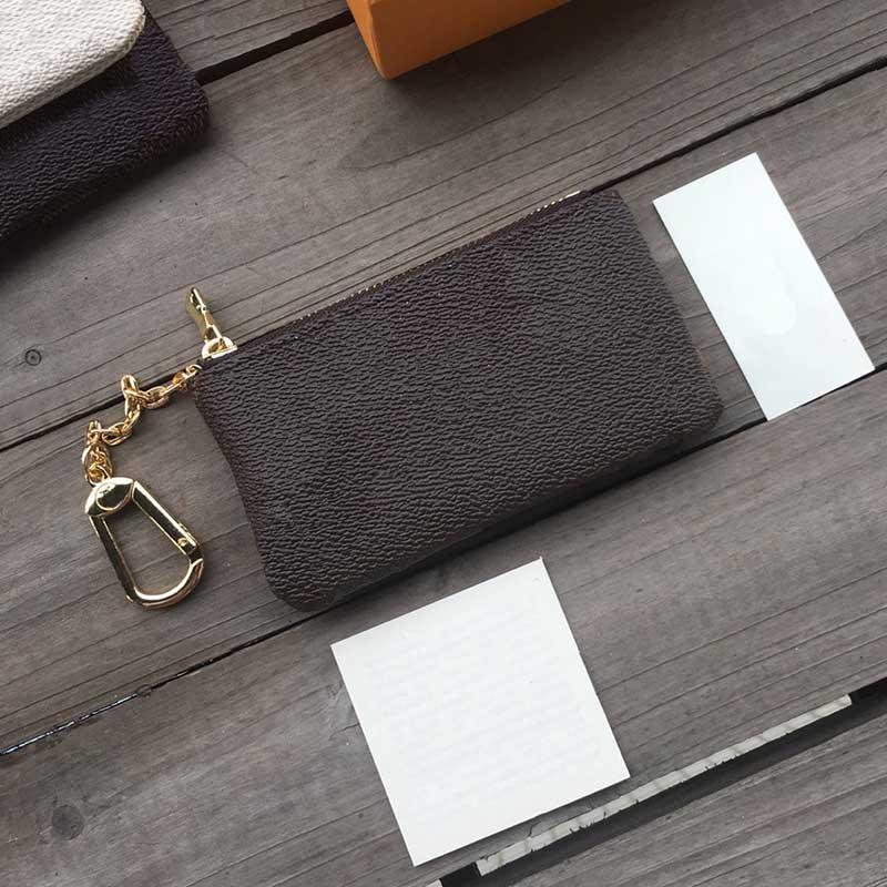 Vente chaude porte-clé porte-clés porte-clé titulaire de carte de crédit concepteur de monnaie porte-monnaie en cuir mini sac de portefeuille M62650 de haute qualité en gros