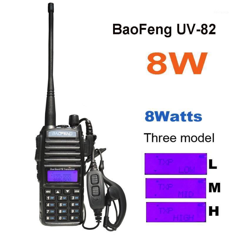 2020 BAOFENG UV-82 8W 10KM Long Range Walkie Talkie Portable CB VHF / UHF Dois Way Radio Amador 8 Watts de UV821