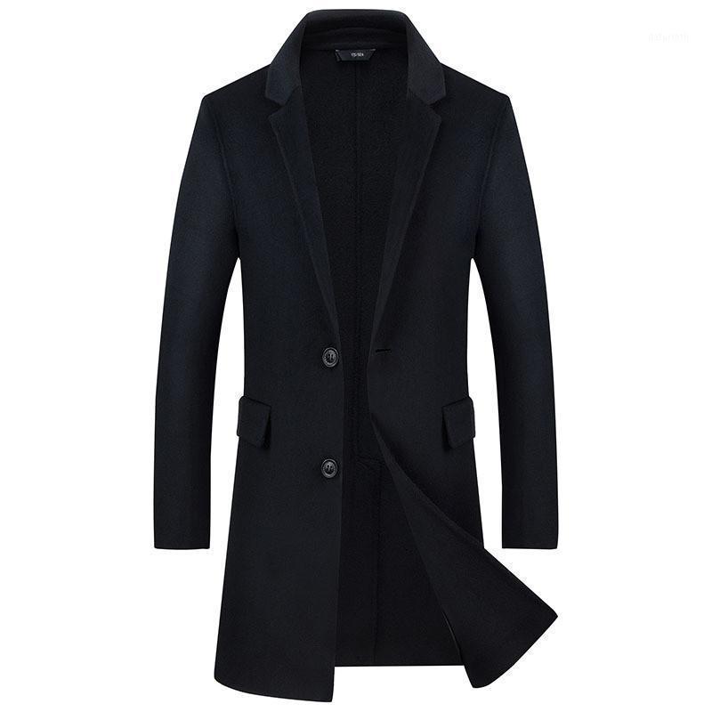 2018 зимние мужские высококачественные двусмысленные шерстяные ткановые пальто мужские повседневные пальто мужская куртка одиночная грудная траншея MEN1