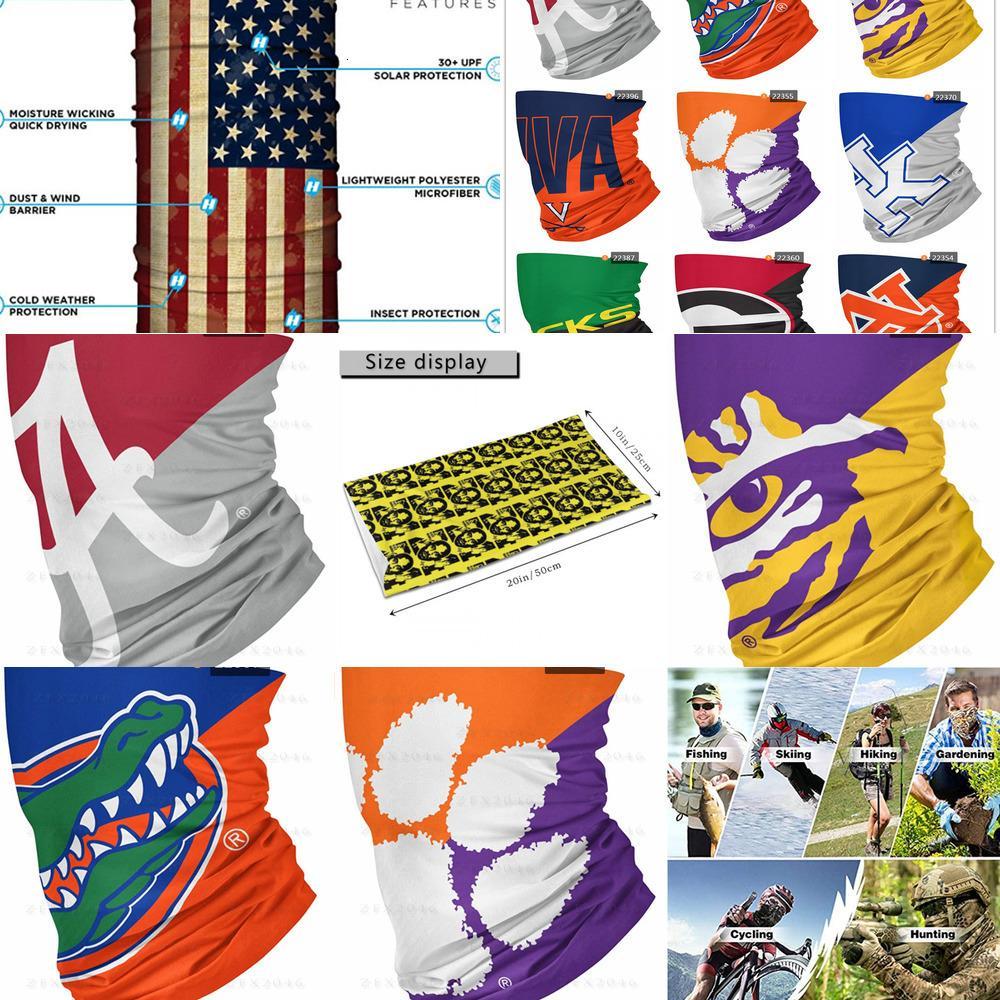 Bouclier Nouveau Col NCAA Echarpe Article Gaiter Big S Constancieuse Bandana Face Masques Protection UV pour la moto Cyclisme Rouler Bandeau RR5i