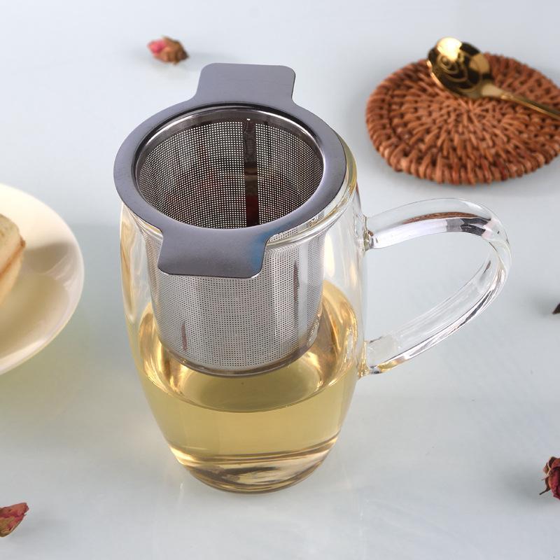 Fine del tè del tè del tè del tè e dei filtri del caffè e dei filtri del caffè riutilizzabili del cestino del tè dell'acciaio inossidabile con 2 maniglie