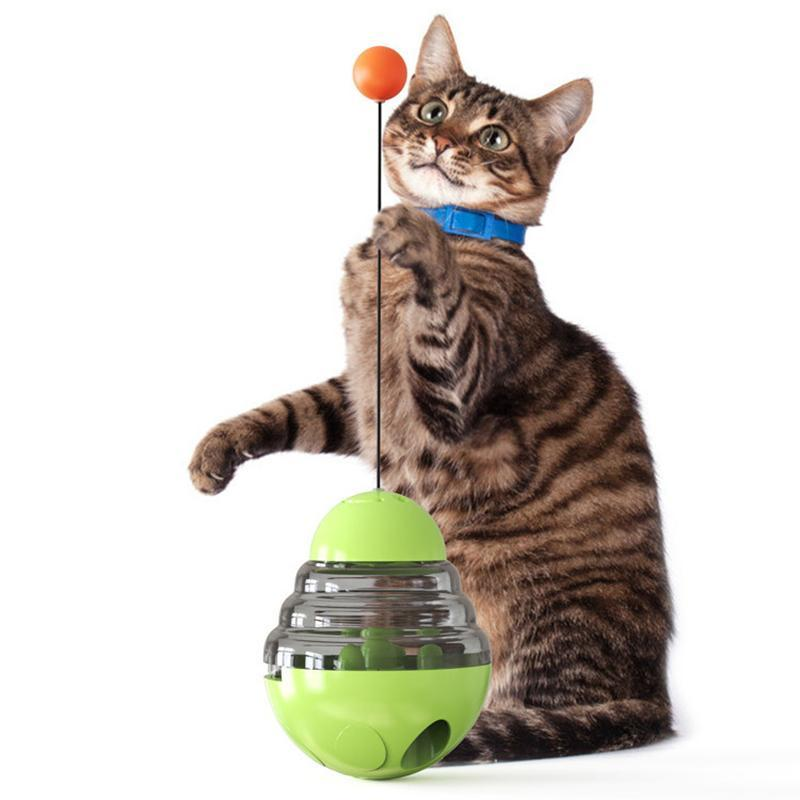 Gato brinquedos engraçado vara bola de brinquedo do Hi Artifact Explosão modelo Tumbler faltando pet suprimentos #