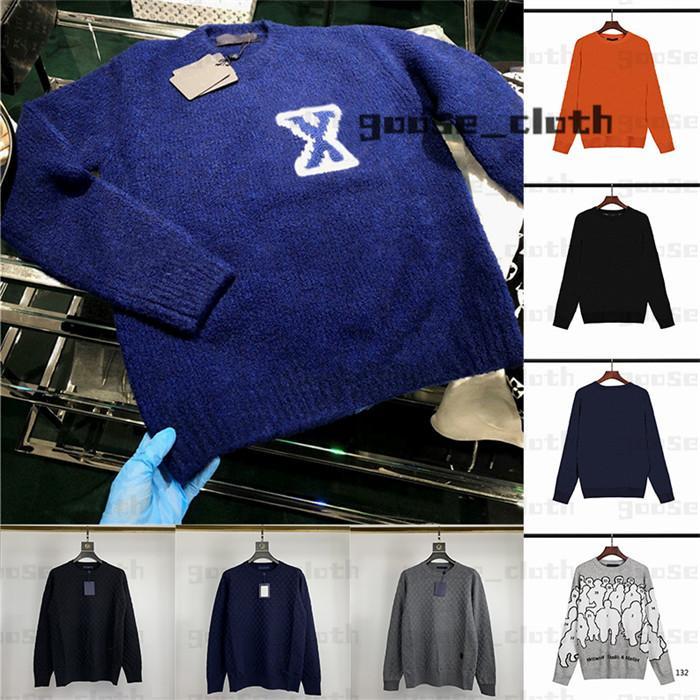 20ss мужские женские дизайнерские свитер свитера пуловер с капюшоном с длинным рукавом свитер толстовка вышивка трикотаж мужской одежда зимняя одежда 2020