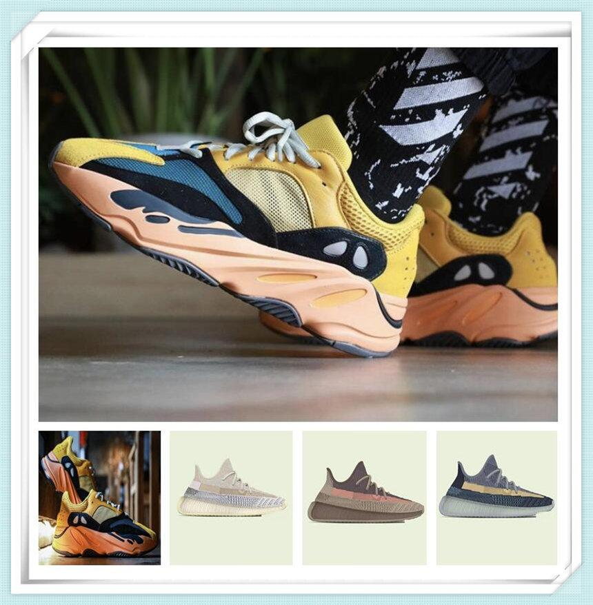 Scarpe sportive da donna da uomo 2021 Kanye West Sun YecoRaite Ash-Stone Ash-Blue Clay Riflettente Casual Casual ANCORANTI ANCORANTI SNEAKERS SHOAR SHOAR Dimensione 36-48