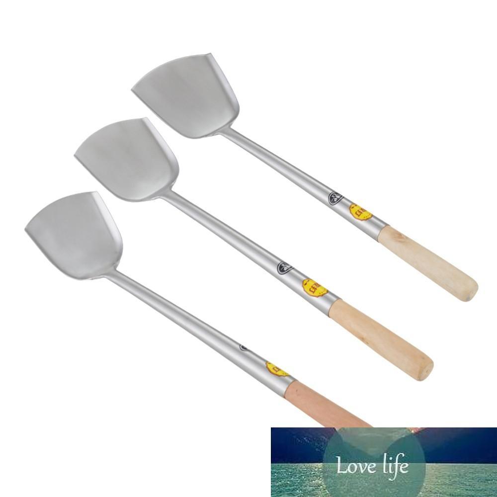 Acier inoxydable Big Long Long Spatule Shovel Chef Cuisson Cocina Utensilios Poignée en bois Spatule Cuisine Ustensil