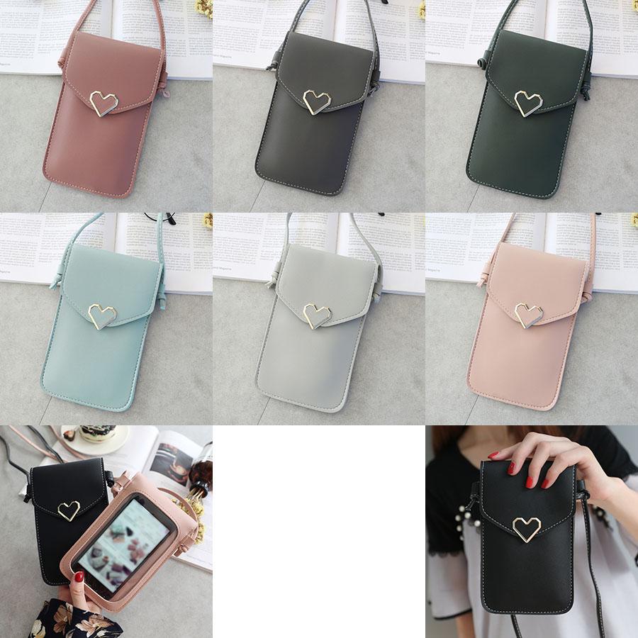 حقيبة الهاتف للنساء يمكن لمس الشاشة الهاتف المحمول أكياس التخزين عملة أزياء مصمم حامل بطاقة XD24441