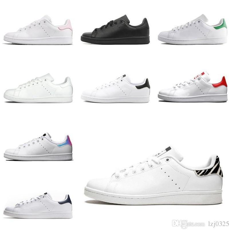 Adidas 2021 botas para mujer hombres zapatos de moda Stan Smith Sneakers Cuero Classic Flats Casual Zapato Tamaño 36-45