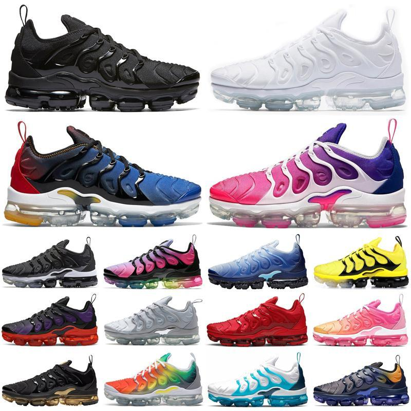 tn plus neon men women shoes triple black be true Violet Blue rainbow Cool Grey mens womens trainers sports sneakers size 36-45