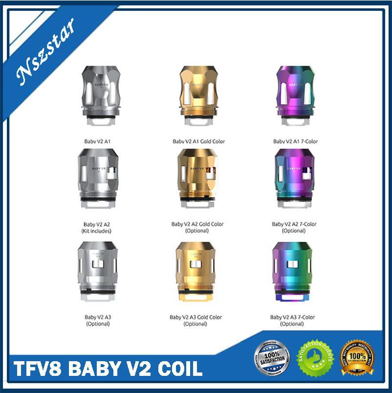 % 100 Yedek Bobinler TFV8 Bebek V2 Tankı A1 0.17OHM S1 0.15OHM S2 0.15ohm Satılık Çok Satış DHL Ücretsiz