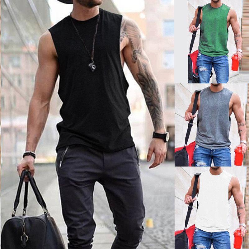 Camiseta para hombres Cuello redondo Chaleco 2020 Primavera Summer Top Hombre HC0023