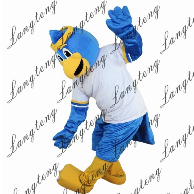 2018 Nuevo deporte de alta calidad Azul Águila mascota trajes de mascota para adultos Circus Christmas Halloween Outfit Fancy Dress Traje envío gratis