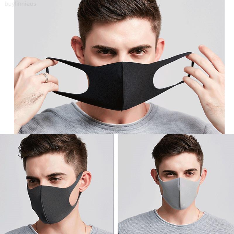 Archroop дети OPP мешок лицо DHL складной респиратор взрослый стиральный рот губка пылезащитный маска защитные маски ljja1604